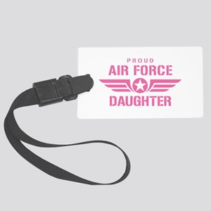Proud Air Force Daughter W [pink] Large Luggage Ta
